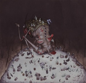 "Allison Sommers ""Base Camp"" - gouache on illustration board - 14x16 inches (2011)"