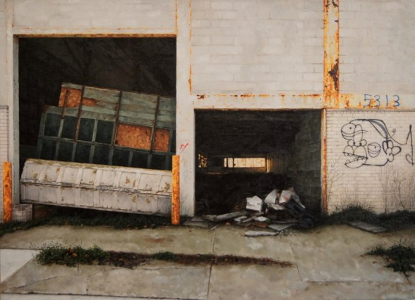 Stephanie Buer 'Where's The Woolite?' - 44x32 inches - oil on canvas (2012)