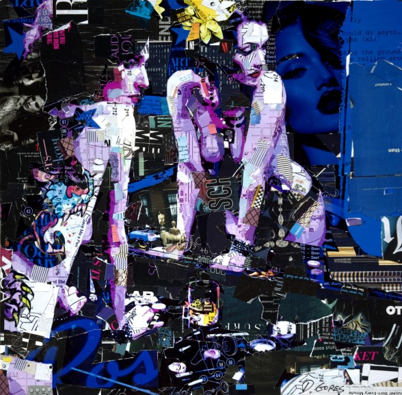 Derek Gores 'Coud Do Anything' - collage on canvas - 24x24 inches (2012)