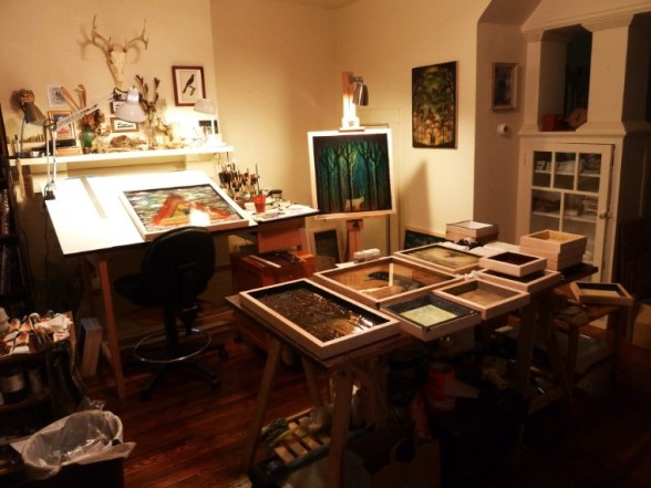 Inside Andy Kehoe's studio in Pittsburgh, PA