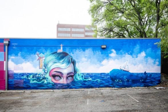 Yoskay Yamamoto and Tatiana Suarez mural
