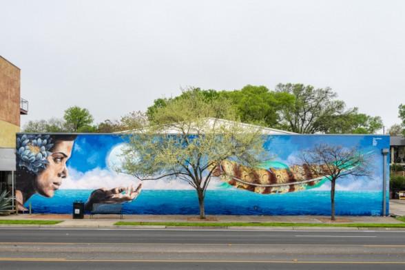 pow wow sxsw barton springs mural