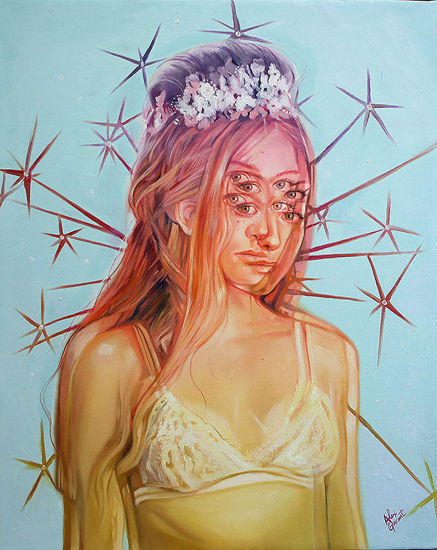 Alex Garant 'Fragments Of Her Mind' - oil on canvas