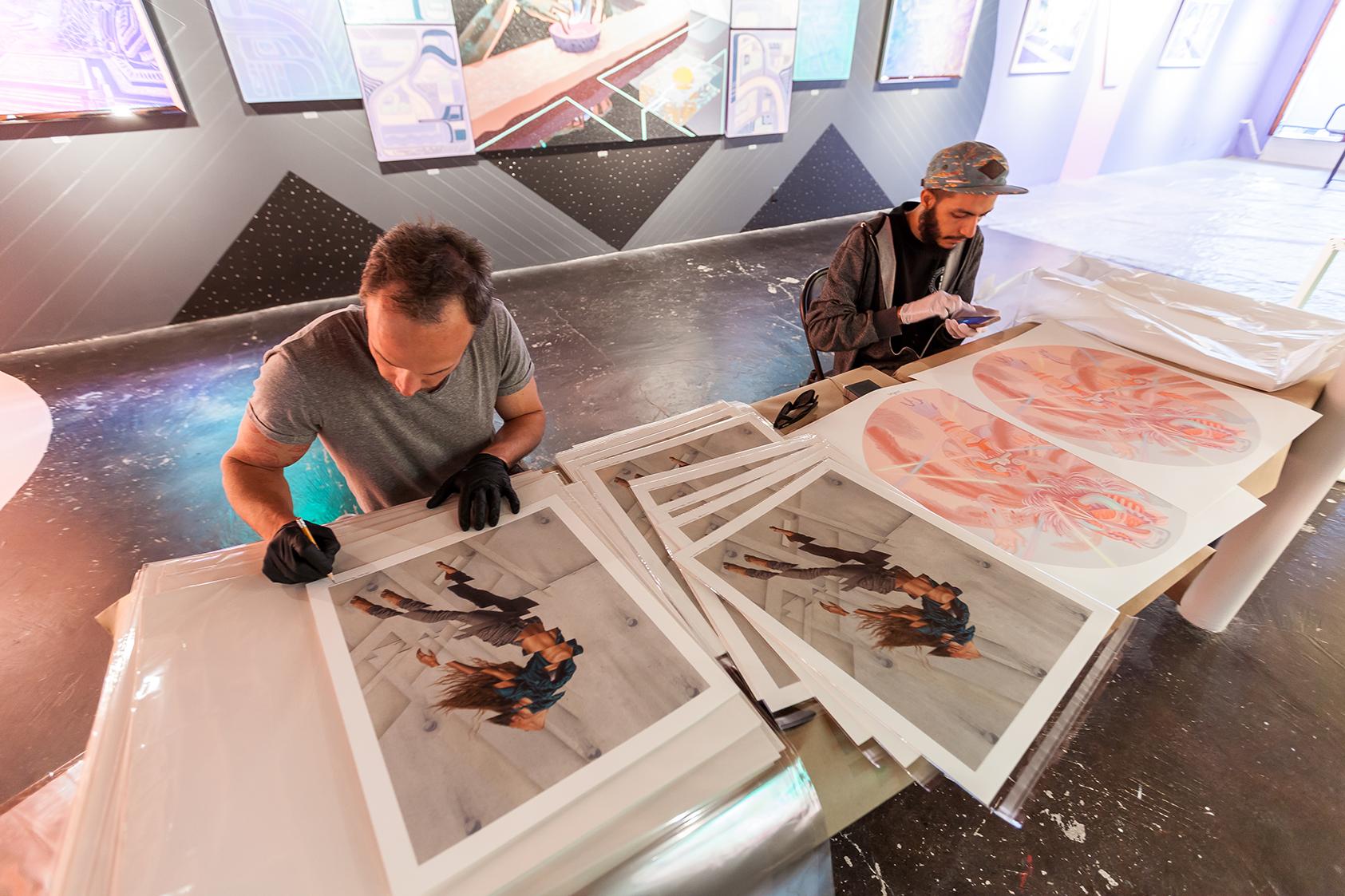 Print Signing Curiot and James Bullough